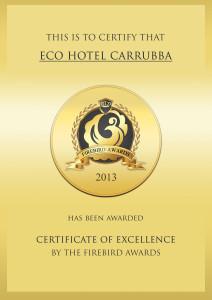 Firebird Awards-Eco Hotel Carrubba
