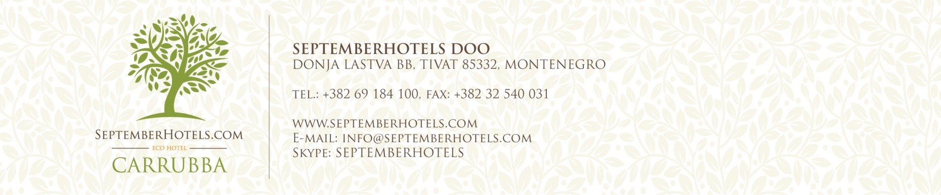 Environmental Care Declaration September Hotels
